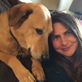 Aimee St Arnaud with brown dog