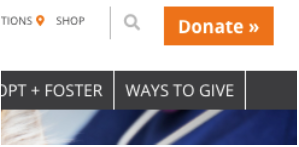 Donation button on bestfriends.org