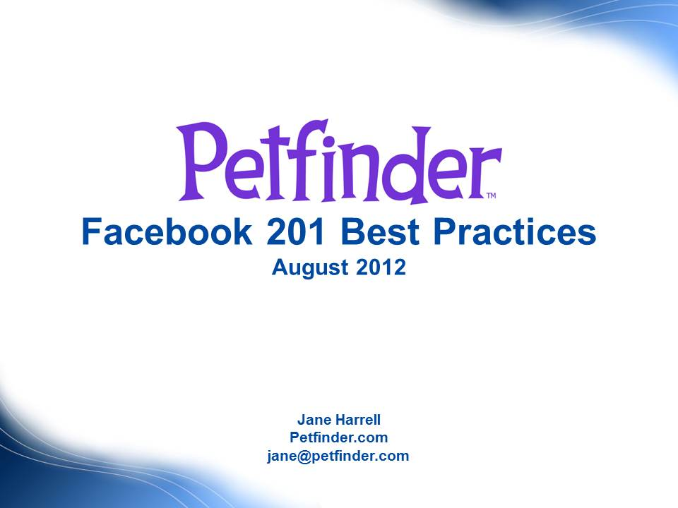 "A view of the ""Facebook 201 for Shelters and Rescues"" webinar"
