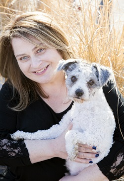 Tracy Miller with dog