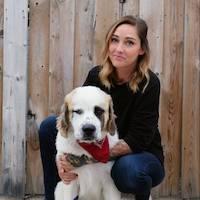 Heather Owen with a fluffy dog
