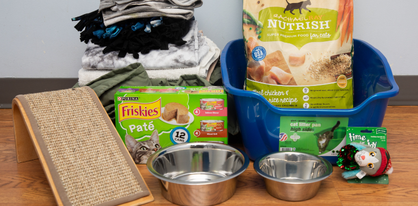 Canned food for pets and other resources for your community