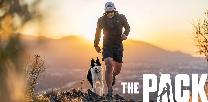Mark LeBlanc and his dog Ace from Amazon Prime's new series The Pack